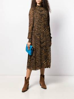 Ganni - tiger print midi dress 35955369330000000000