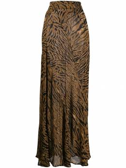 Ganni - animal print long skirt 89550660900000000000