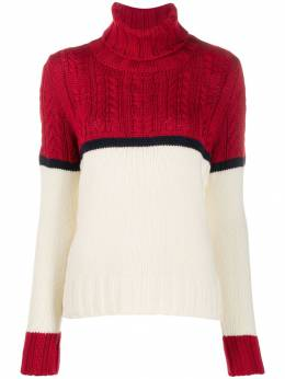 Zanone - colour block cable knit jumper 563ZM690Z50669559930