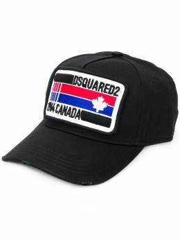 Dsquared2 - flag patch baseball hat 605365C6666995599333