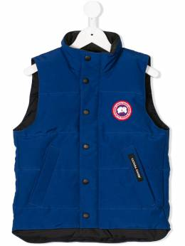 Canada Goose Kids - logo patch zipped gilet 9Y066PACIFICBLUE9305
