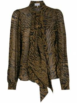 Ganni - animal print blouse 36955066530000000000
