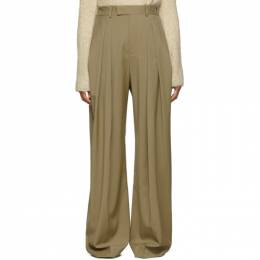 J.W. Anderson Beige High-Waisted Wool Trousers 192477F08700202GB
