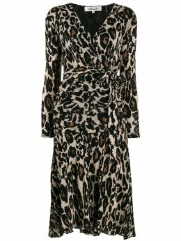 Diane von Furstenberg - animal-print wrap-effect dress 95DVF955938660000000