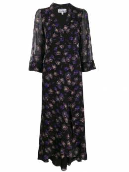Ganni - floral wrap dress 53955058080000000000
