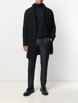 Canali - turtle-neck fitted top 06MK6663395593698000