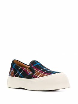 Marni - checked chunky slip-on sneakers W665906TCX9993363359