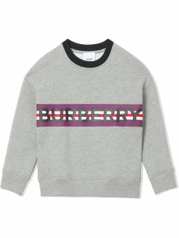 Burberry Kids - logo print striped sweatshirt 65969556383900000000