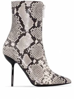 Unravel Project - 100mm snake print ankle boots A655F99LEA6696896956