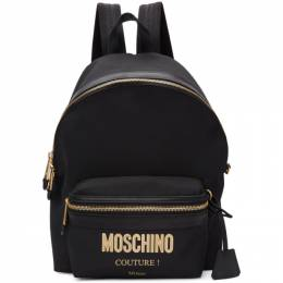 Moschino Black Logo Backpack 192720M16600201GB