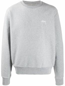 Stussy - relaxed-fit logo embroidery sweatshirt 39695593909000000000