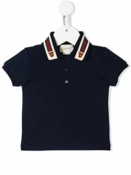 Gucci Kids - Web tiger collar polo shirt 863XJBEP955595960000