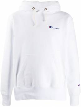 Champion - logo embroidered hoodie 33595569995000000000