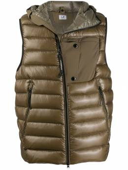 CP Company - goggle-detail hooded gilet MOW639A665565C955056