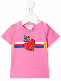 Gucci Kids - strawberry print T-shirt 635XJBJD955593950000