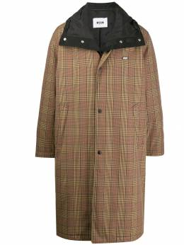MSGM - checked trench coat 6MC99A99556993833358
