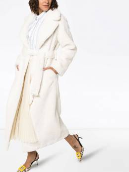 Stand - Faustine faux fur belted coat 698386WHITE939509960