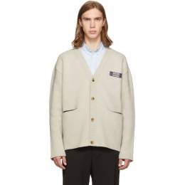 Maison Kitsune Off-White Two-Tone Cardigan 192389M20000502GB