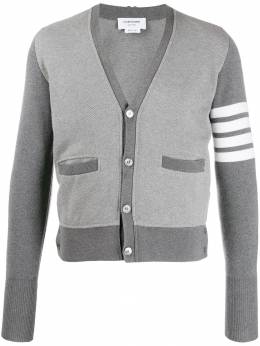 Thom Browne - stripe detail cardigan 069A6365995535668000