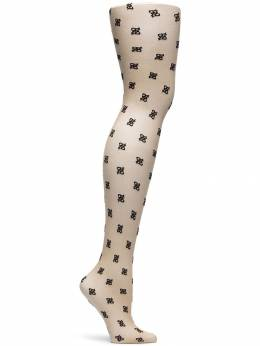 Fendi - flocked FF logo tights 508A90C9553935800000