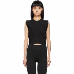 T by Alexander Wang Black Wash and Go Side Tie Crop Top 192214F11101201GB