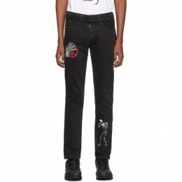 Off-White Black Undercover Edition Cutted Slim 5-Pocket Jeans OMYA027G19812011