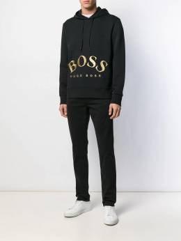 Boss Hugo Boss - gold logo embroidered hoodie 93935955395390000000