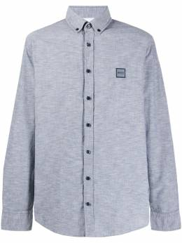 Boss Hugo Boss - embroidered logo button-down shirt 69559955055900000000