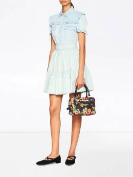 Miu Miu - high waisted denim skirt 9339S959556566900000