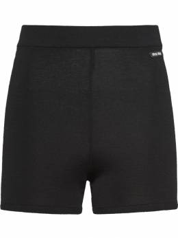 Miu Miu - high-rise cycling style shorts 9569VKE9556569500000