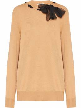 Miu Miu - bow detail jumper 0699VNU9556566500000