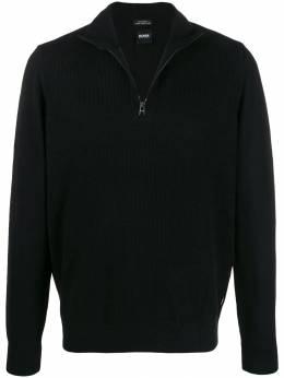 Boss Hugo Boss - zip-front knitted sweatshirt 95395938503530000000