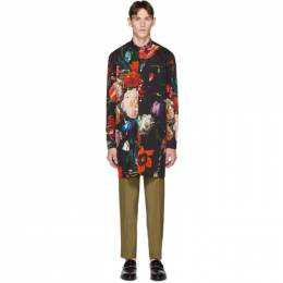 Paul Smith Black and Multicolor New Masters Oversized Mayfair Shirt 192260M19200803GB