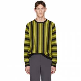 Paul Smith Yellow and Black Vertical Stripe Sweater 192260M20100204GB