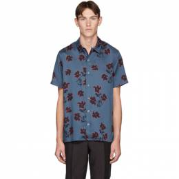PS by Paul Smith Blue Floral Casual-Fit Shirt 192422M19201702GB