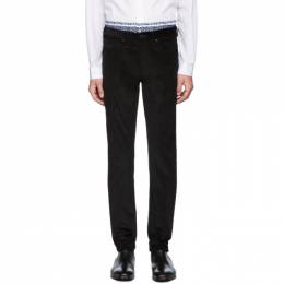 PS by Paul Smith Black Corduroy Five-Pocket Trousers 192422M19101606GB