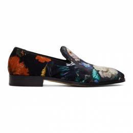 Paul Smith Black Floral Tudor Loafers 192260M23101101GB