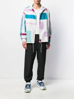 adidas - checked colour block sports jacket 59995598599000000000
