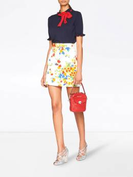 Miu Miu - floral mini skirt 3059T959556566600000