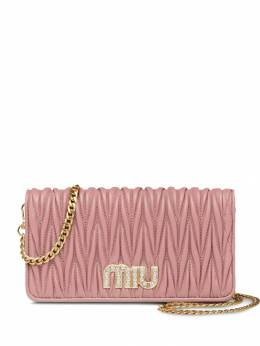 Miu Miu - matelassé leather mini-bag 6090BSQ9556535800000