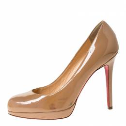Christian Louboutin Nude Beige Patent Leather New Simple Pumps Size 37 229241