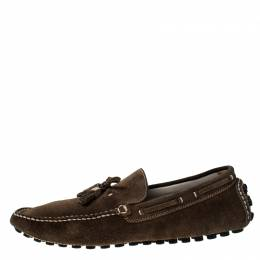 Louis Vuitton Brown Suede Imola Tassel Loafers Size 41.5