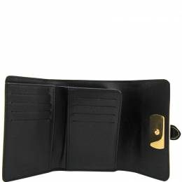 Louis Vuitton	 Black Suhali Leather Le Somptueux Wallet