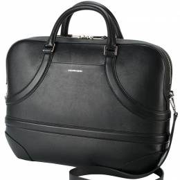 Alexander McQueen	 Black Leather Harness Briefcase