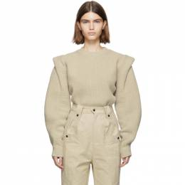 Isabel Marant Beige Wool and Cashmere Knit Bolton Sweater PU1148-19H035I