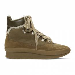 Isabel Marant Taupe Shearling Brendta Hiking Boots BK0050-19A003S