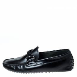 Tod's Black Leather Loafers Size 41 Tod's