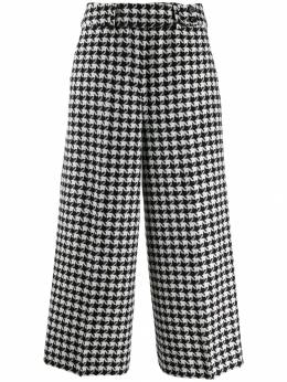 Pt01 - houndstooth cropped trousers D66STDRI099558383500