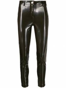 Twin-Set - glossy effect skinny trousers MT069695665935000000