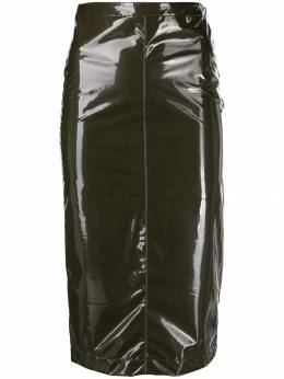 Twin-Set - glossy effect pencil skirt MT069995665930000000